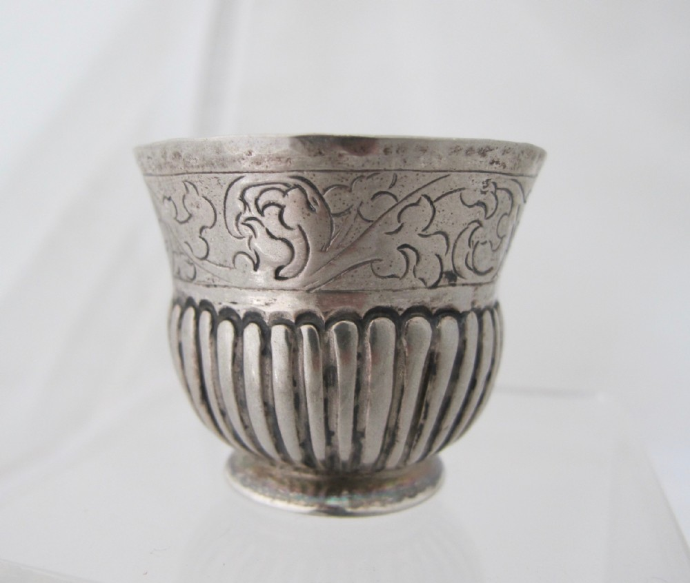 Antique 18th Century Imperial Russian Silver Charka Cup C