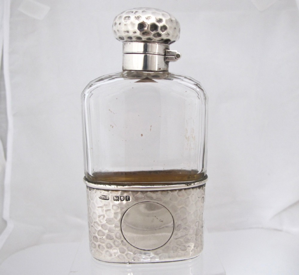 wonderful asprey cut glass silver spirit flask london 1900