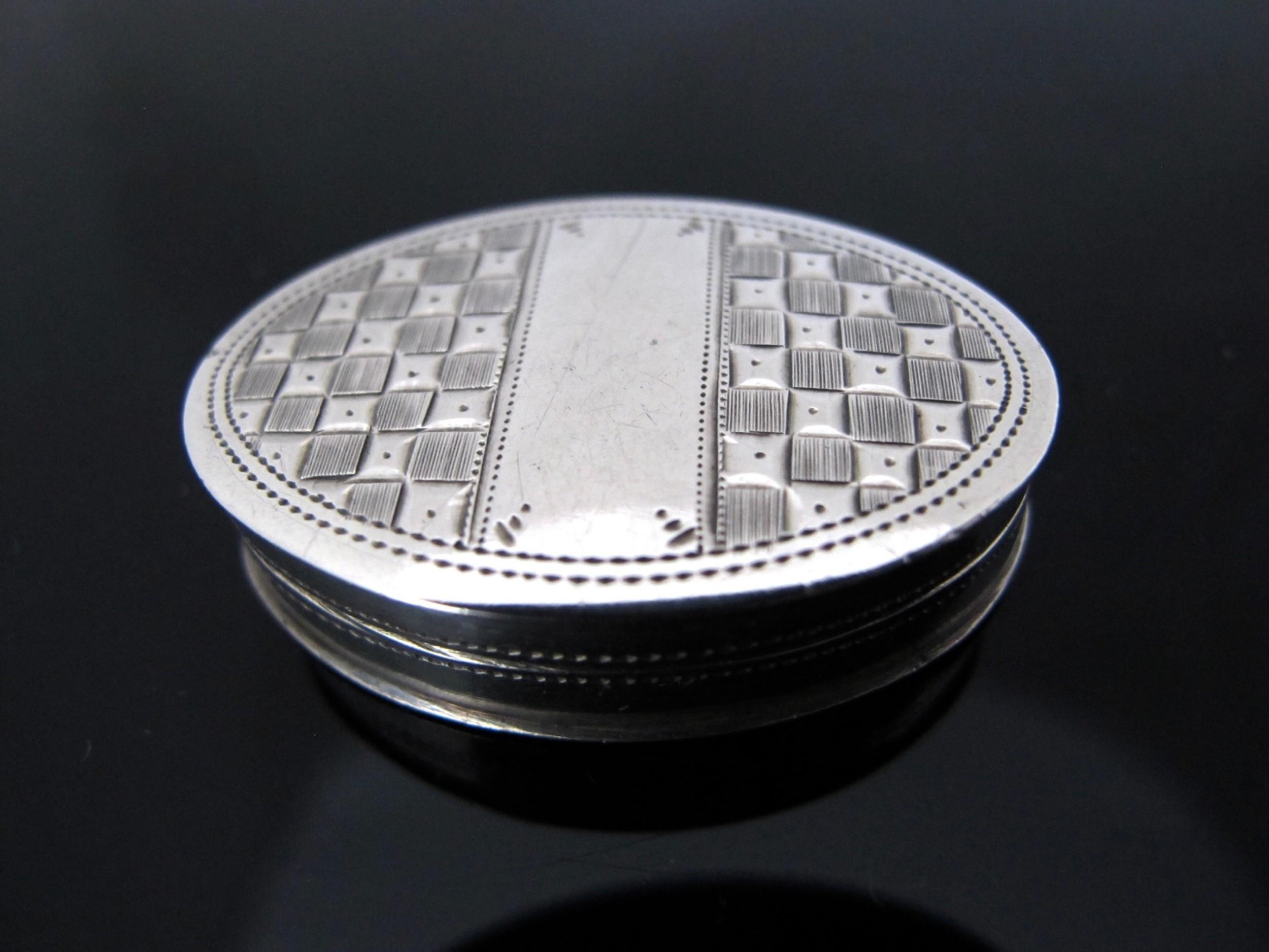 fine george iii silver patch box joseph taylor birmingham 1802