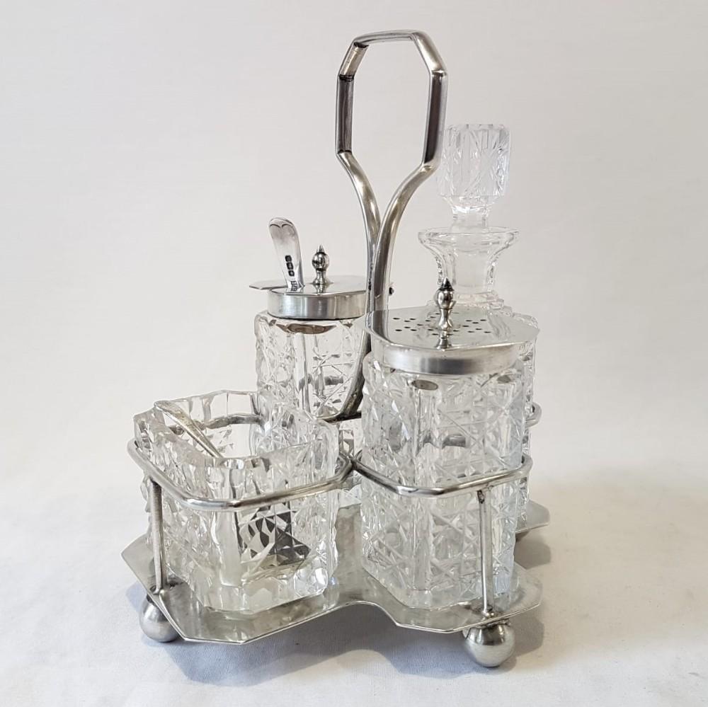 silver cruet set by william hutton 1923