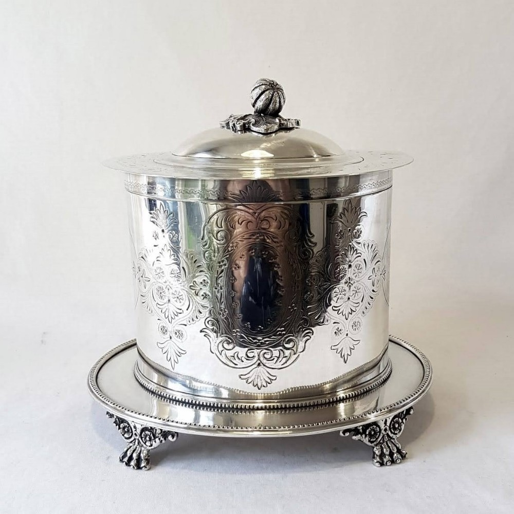 mappin and webb silver plate biscuit barrel