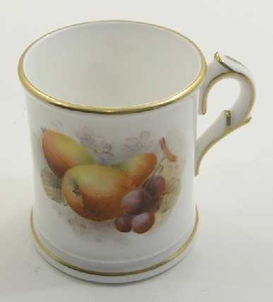 royal worcester fruit miniature coffee can