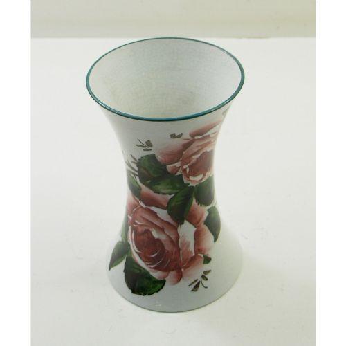 scottish wemyss ware waisted vase with cabbage roses