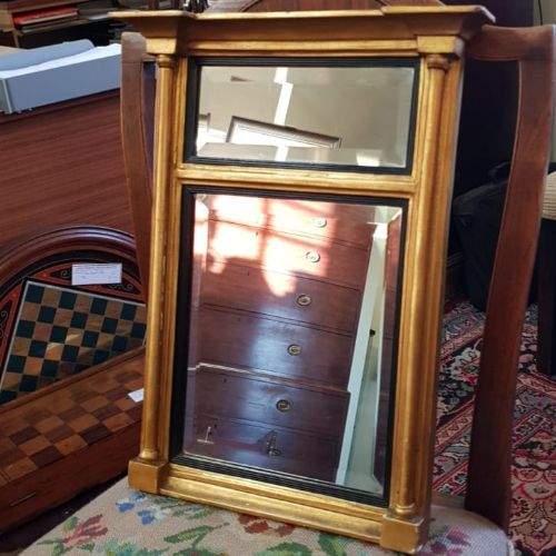 delightful small regency giltwood pier mirror