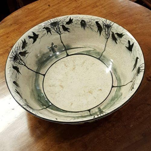 rare scottish large wemyss earlshall bowl