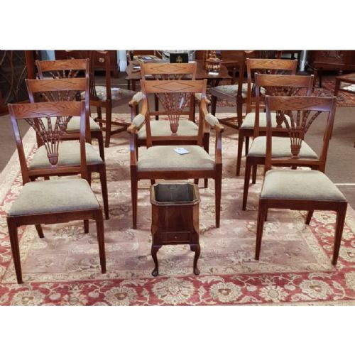gorgeous set of 8 elm dining chairs c 1820