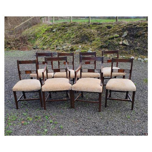 good set of 8 georgian dining chairs