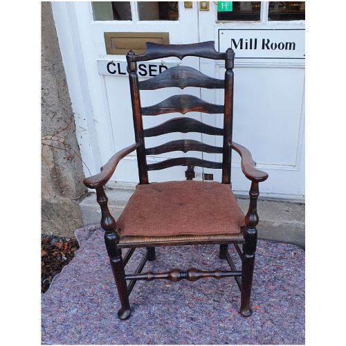 sumptuous large ladder back arm chair
