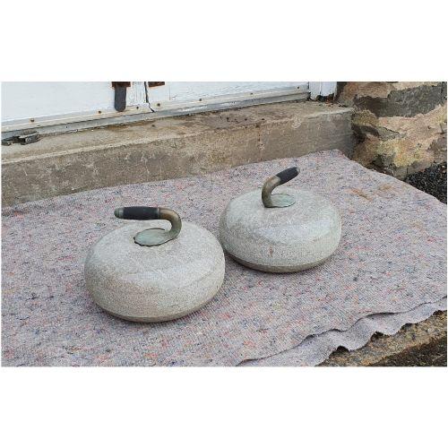 good pair of scottish granite curling stones