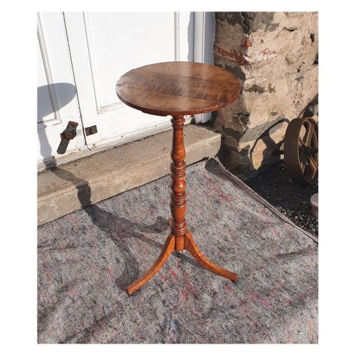 rare american tiger maple candle stand c 1790