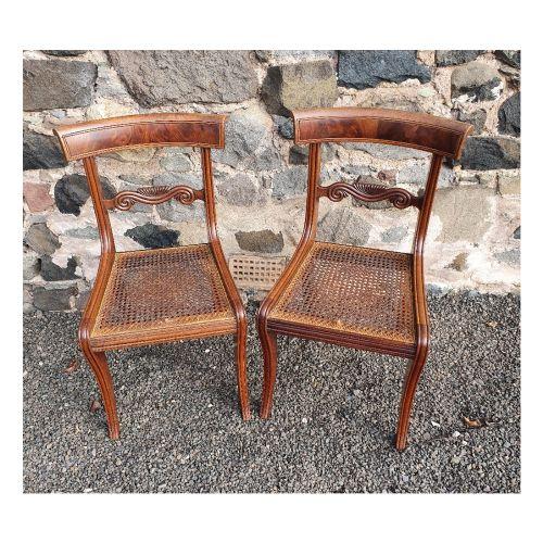 good pair of regency sabre leg hand chairs