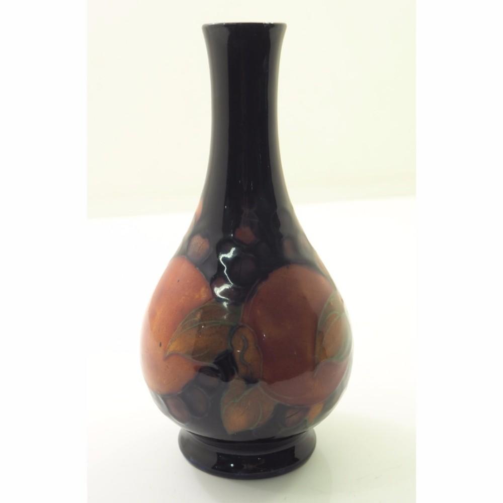 early moorcroft england pomegranate flower vase