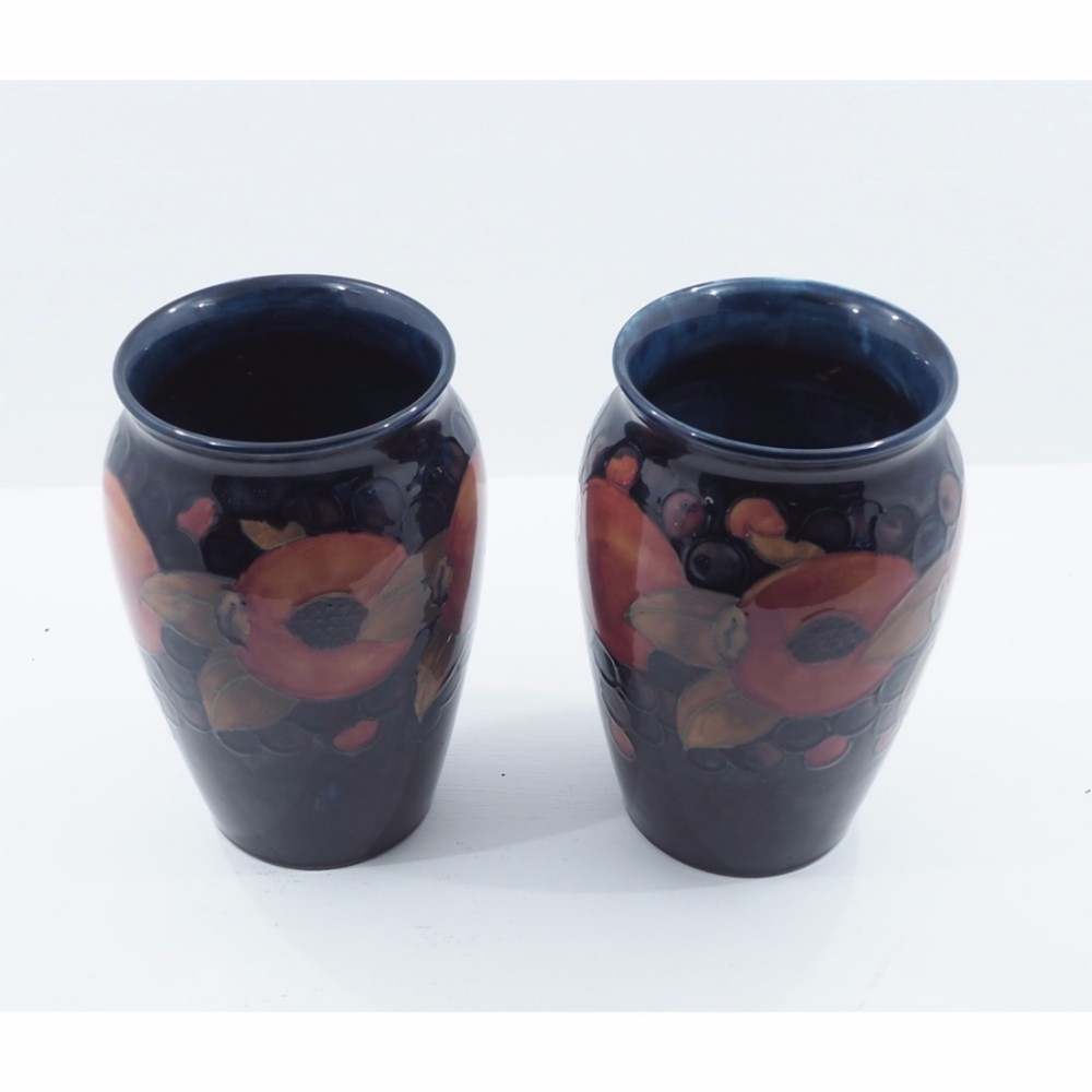 stunning pair of large early moorcroft vases