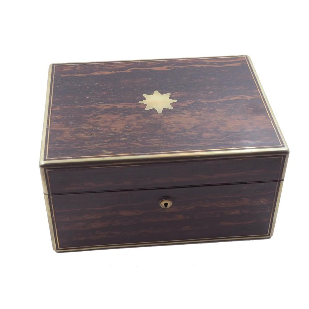 late regency fitted calamander vanity box