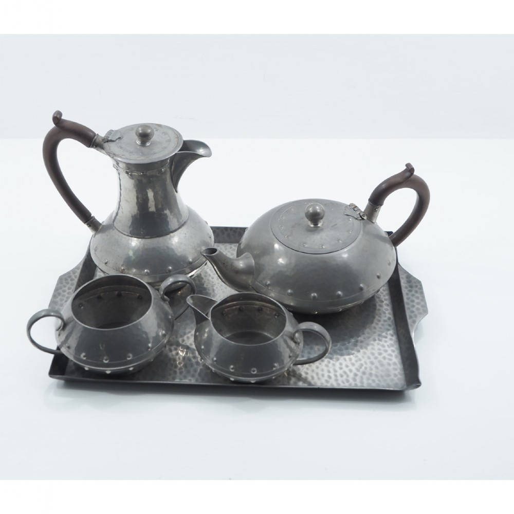 complete pewter tea service by walker co