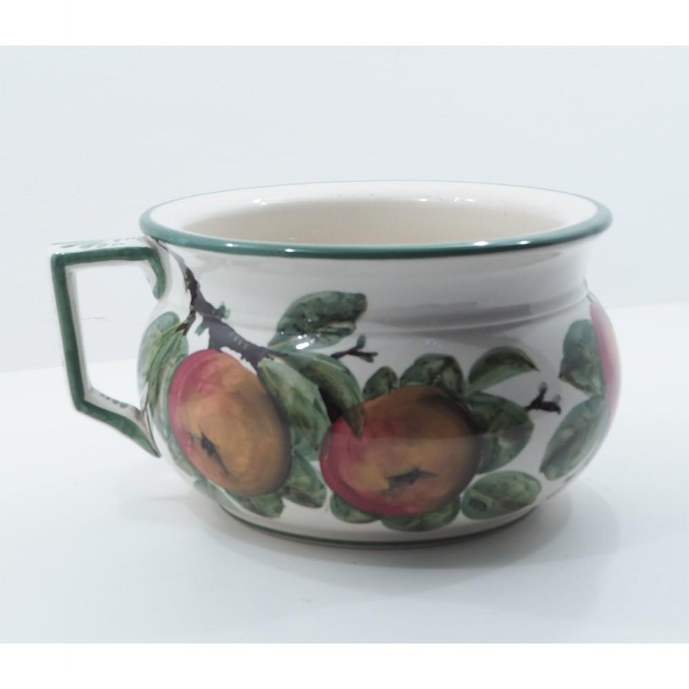 superb wemyss ware chamber pot in apples