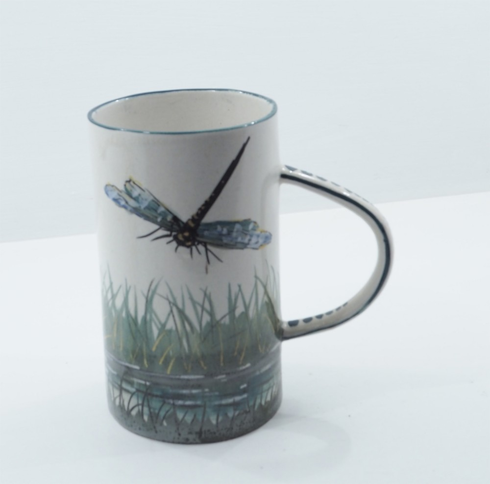 stunning wemyss tall mug in dragon flies