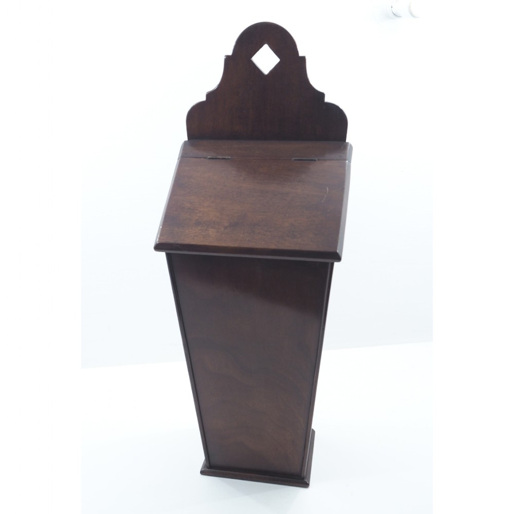 19th century mahogany hanging candle box