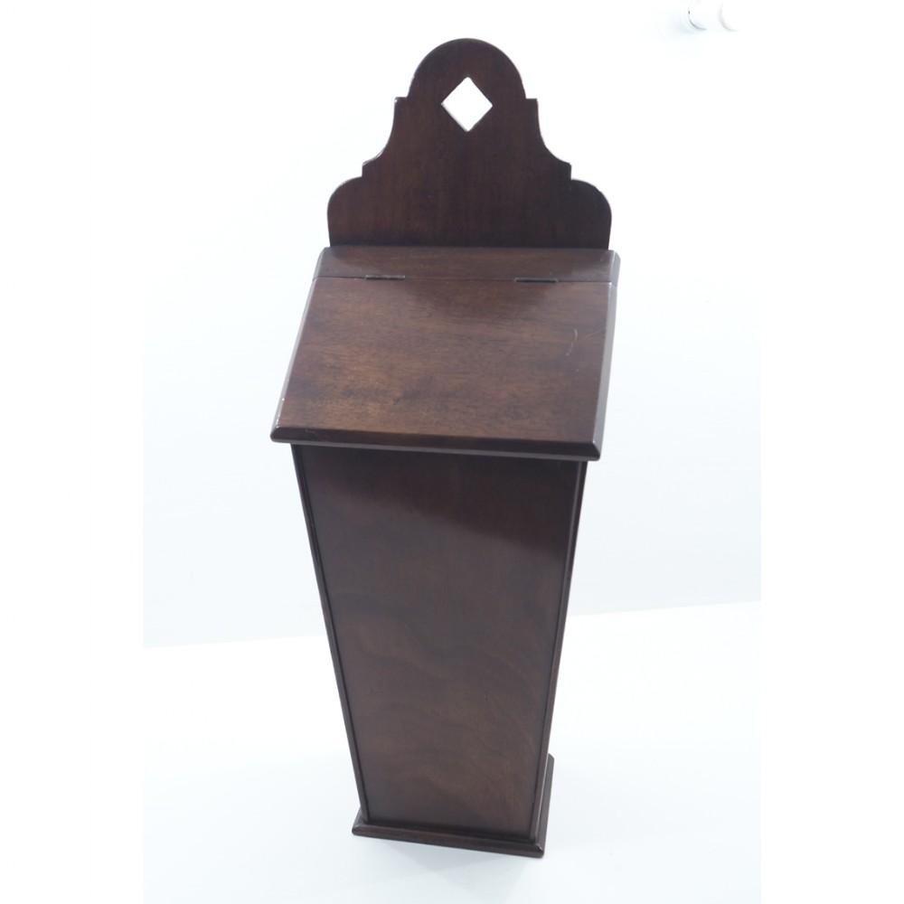 19th century mahogany hanging candle box