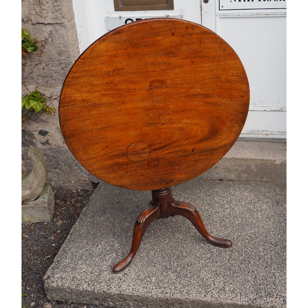 george iii mahogany country tripod table
