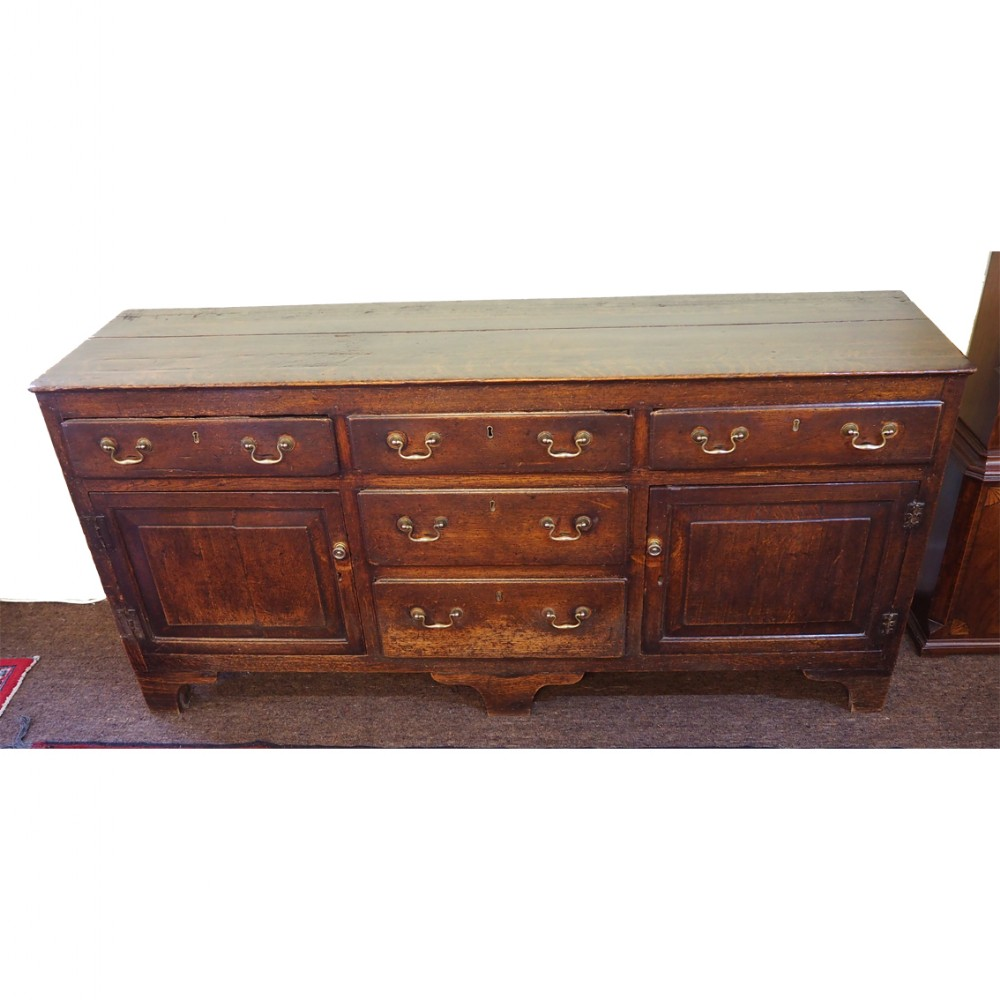 early georgian oak enclosed dresser base
