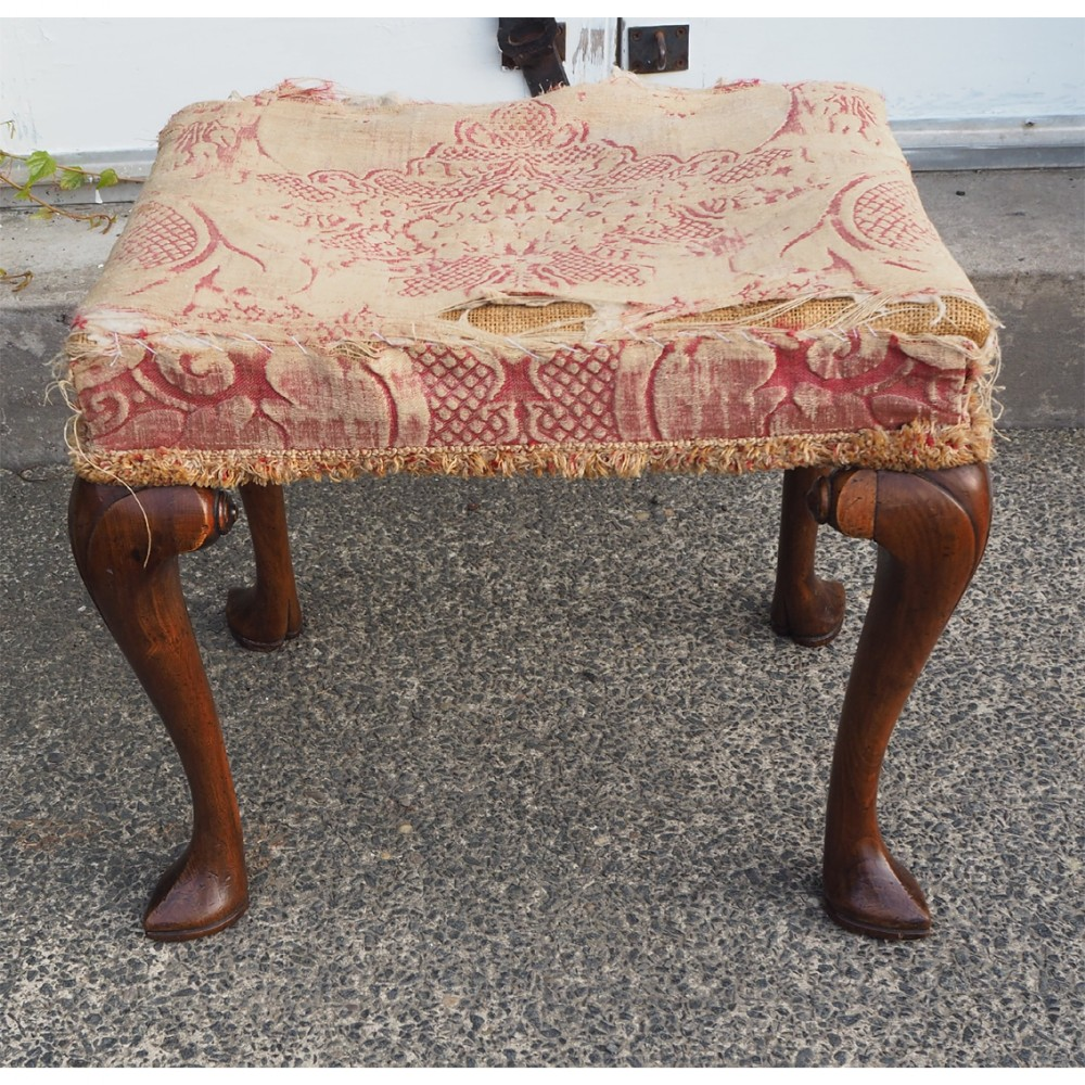 super queen anne style walnut stool