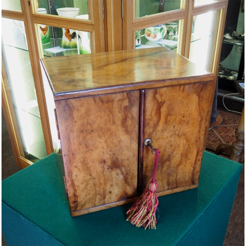 victorian olivewood collectors table cabinet