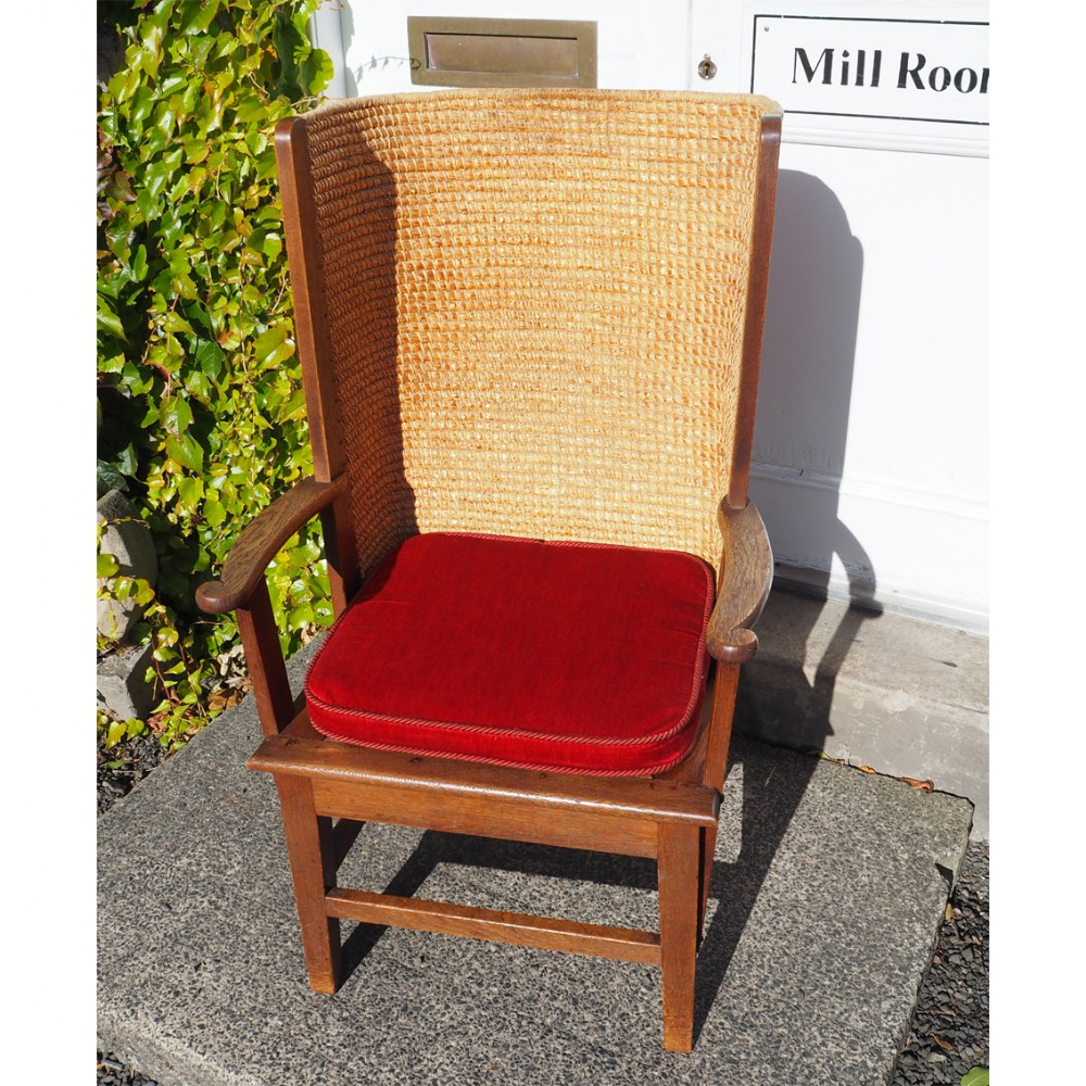 superb large gents oak orkney chair
