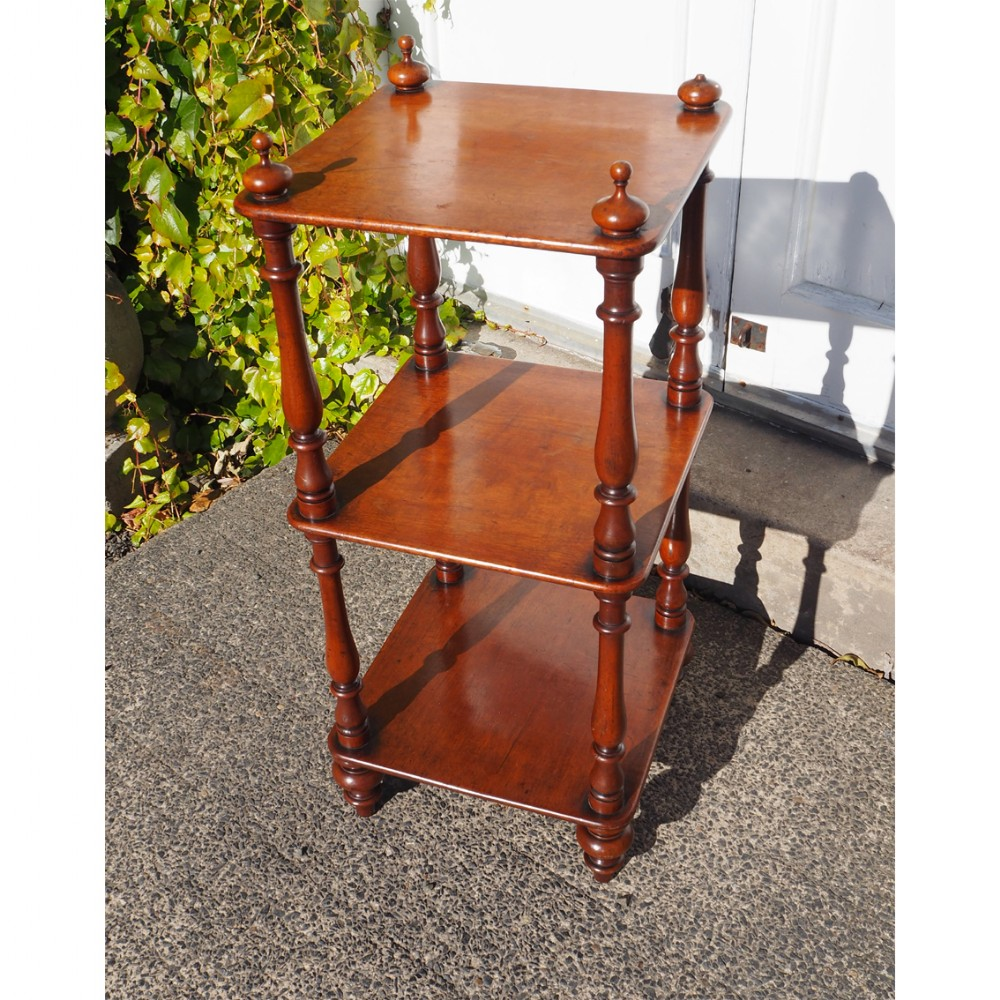 small 19th century mahogany whatnot