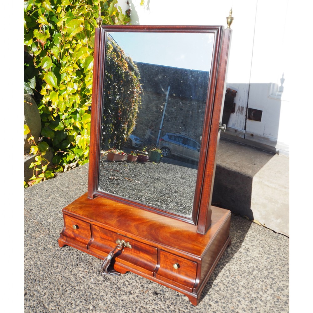 fine 18th century mahogany toilet mirror