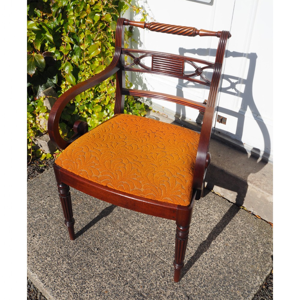 whitehaven gillows type mahogany arm chair