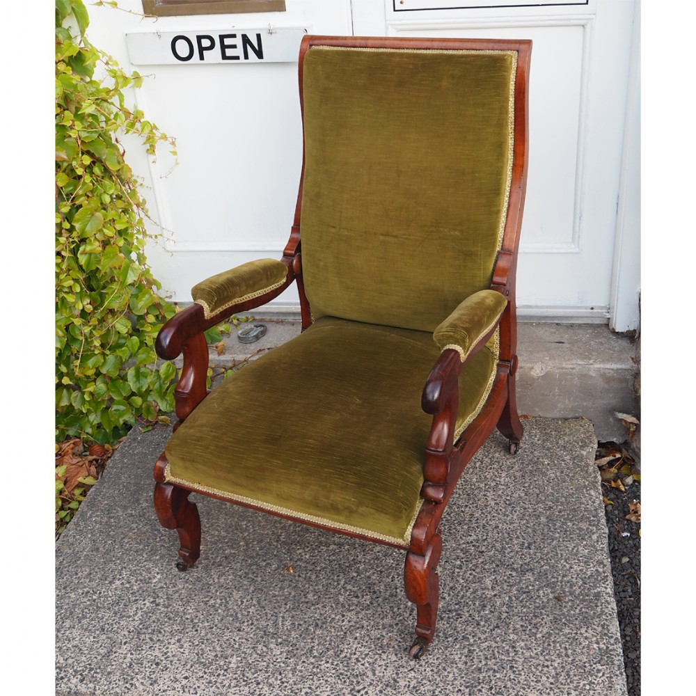 robert daws patent reclining library chair