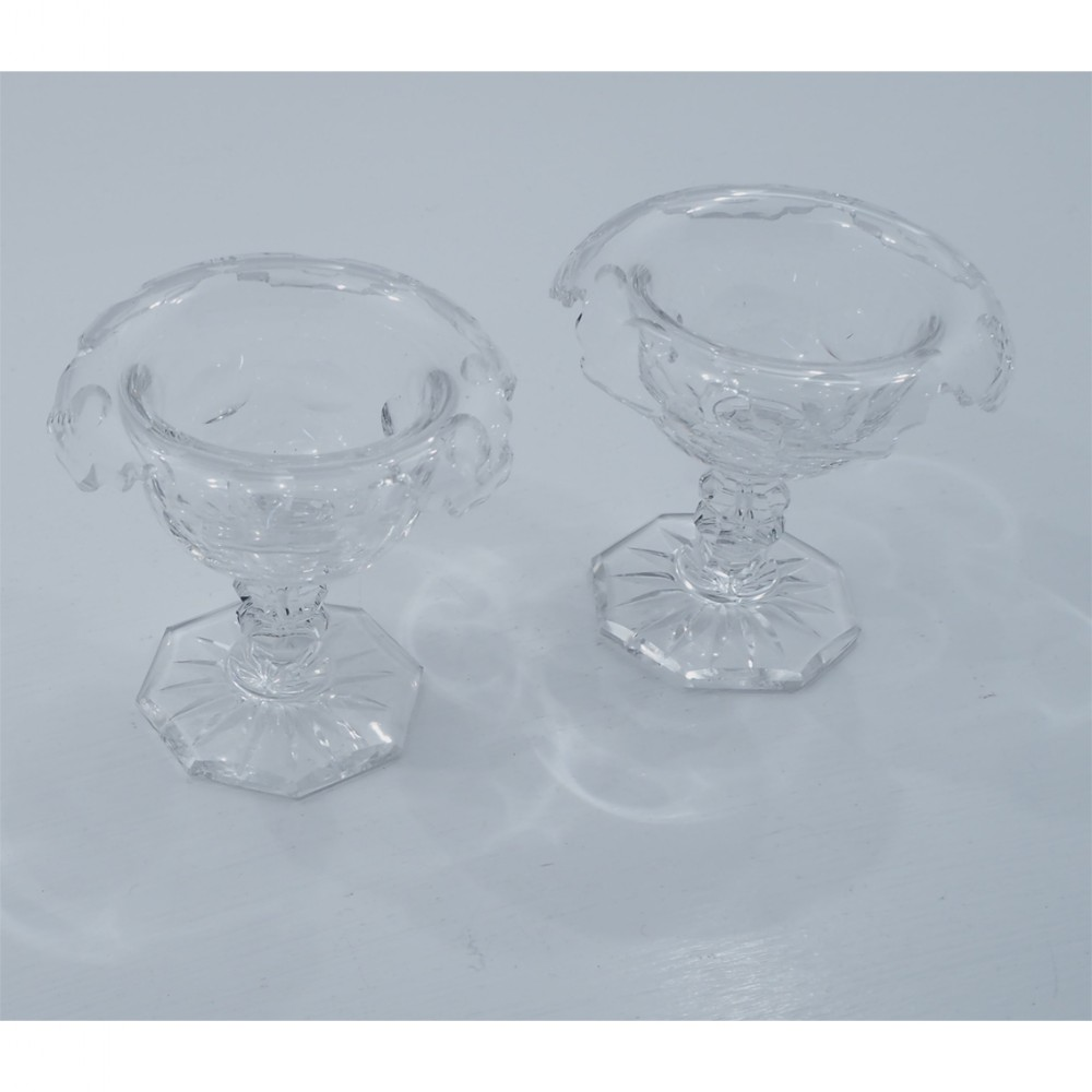 pretty pair of 19th century glass salts