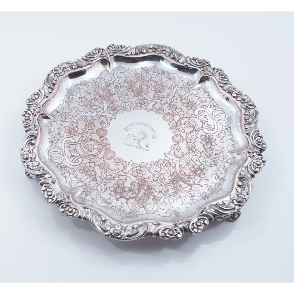 high quality victorian silver plated salver