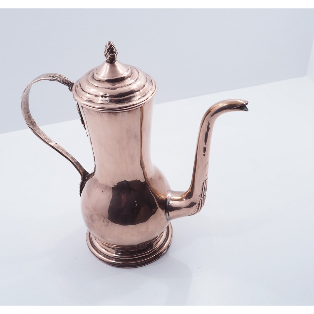 early 19th century dutch copper coffee pot