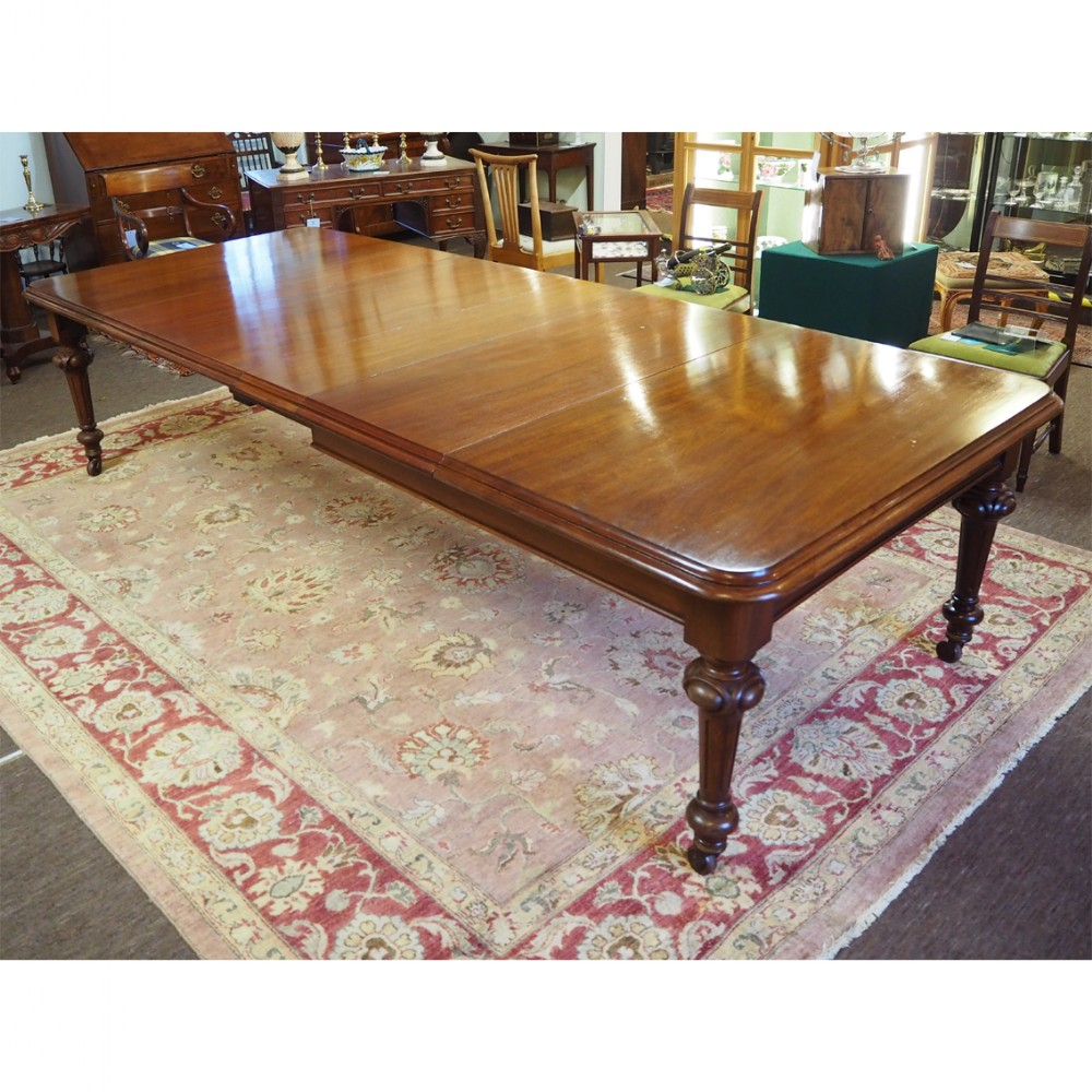 large mid victorian extending dining table