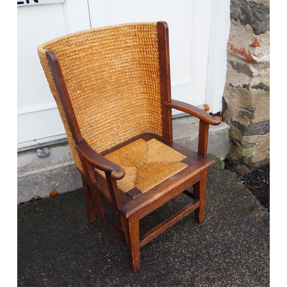 superb 1900's childs oak orkney chair