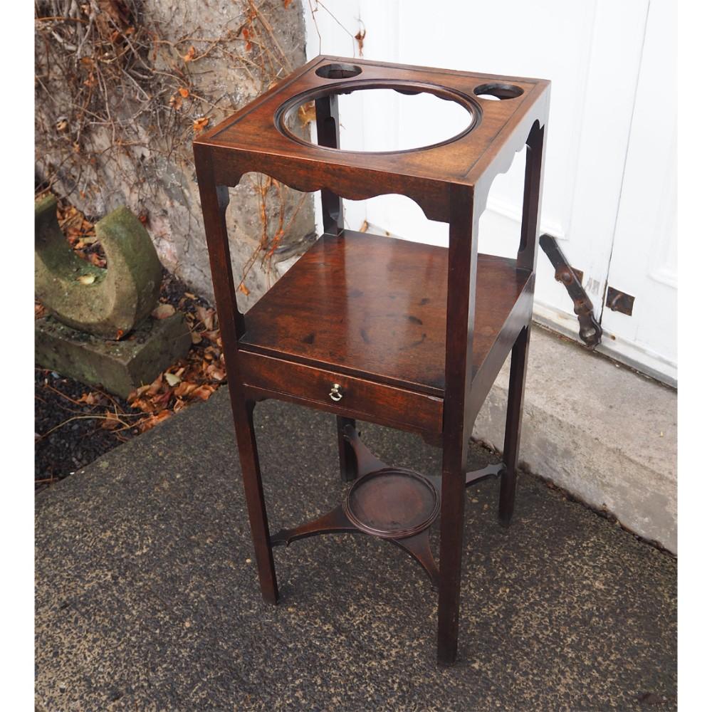 superior 18th century mahogany washstand