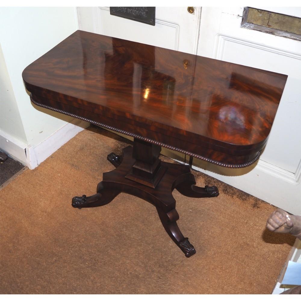 irish regency flame mahogany tea table