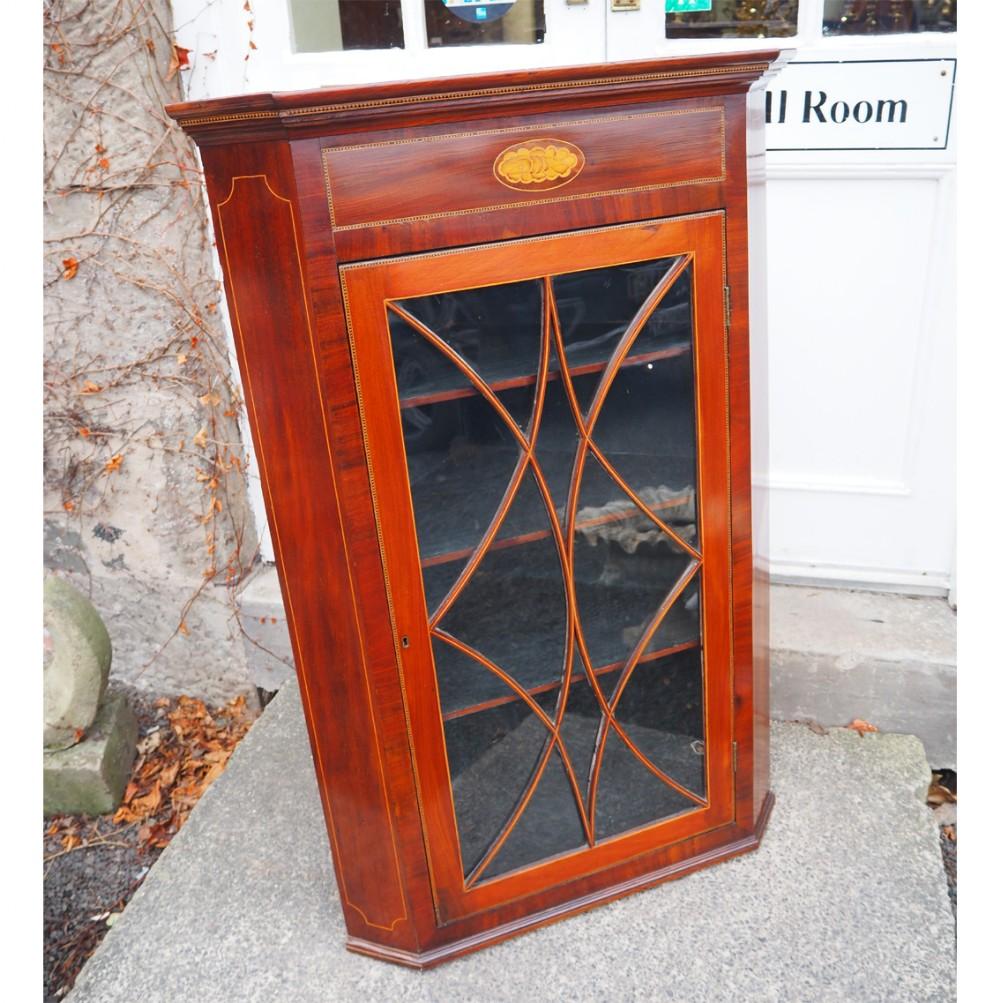 georgian scottish mahogany corner cabinet