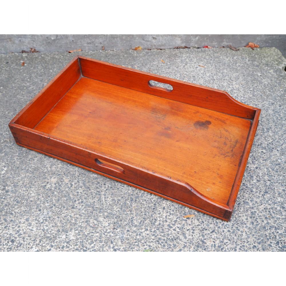 19th century mahogany oblong tray
