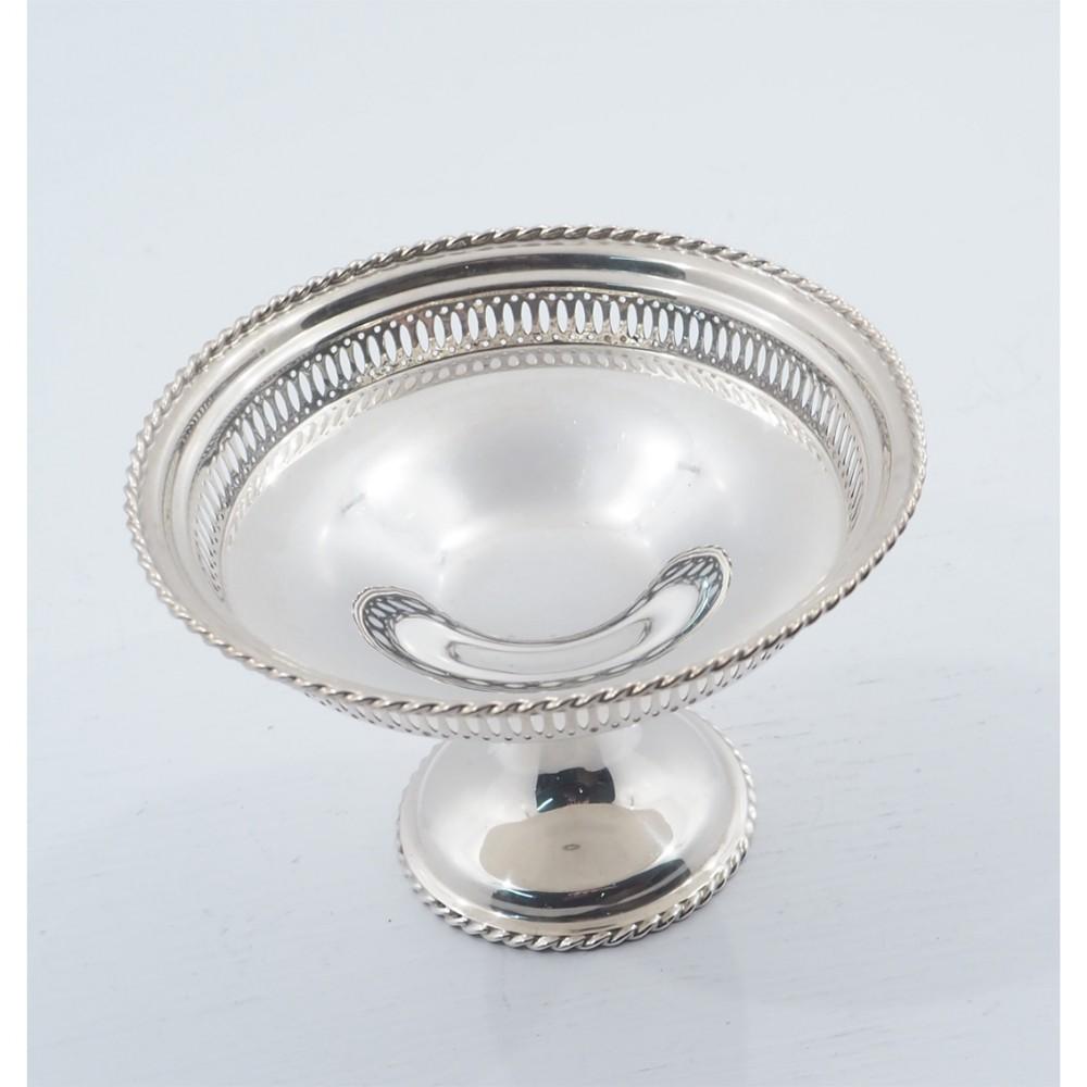 pretty silver bonbon dish birmingham 1922