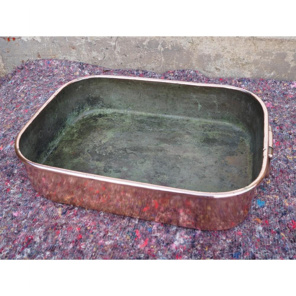 large benham froud copper roasting pan