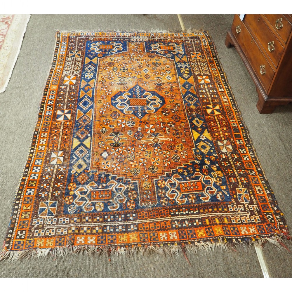 antique persian shiraz rug of nice colours