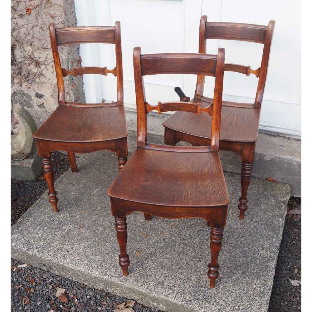 set of 3 beech and ash kitchen chairs