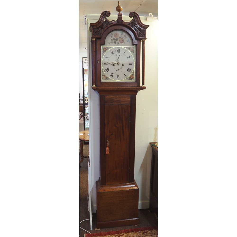 early scottish 8 day longcase clock