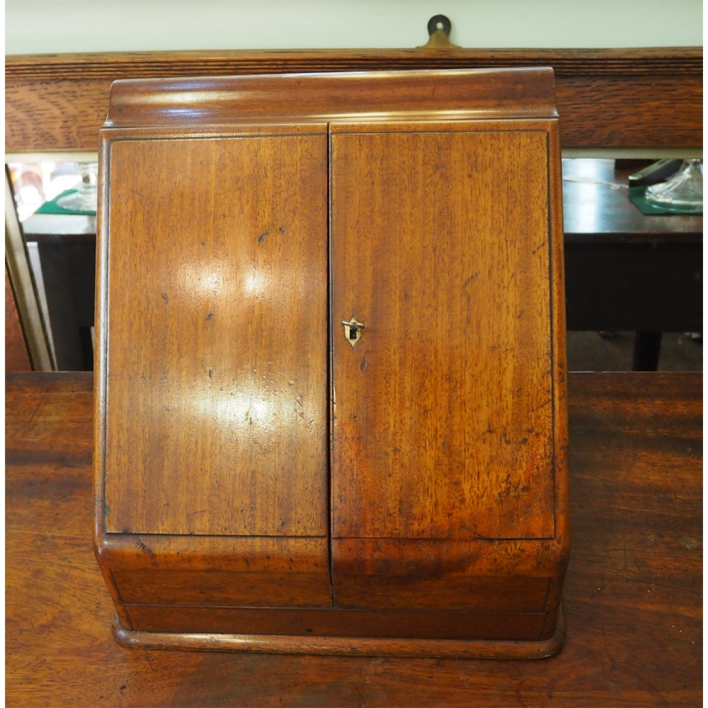 19th century mahogany stationery box