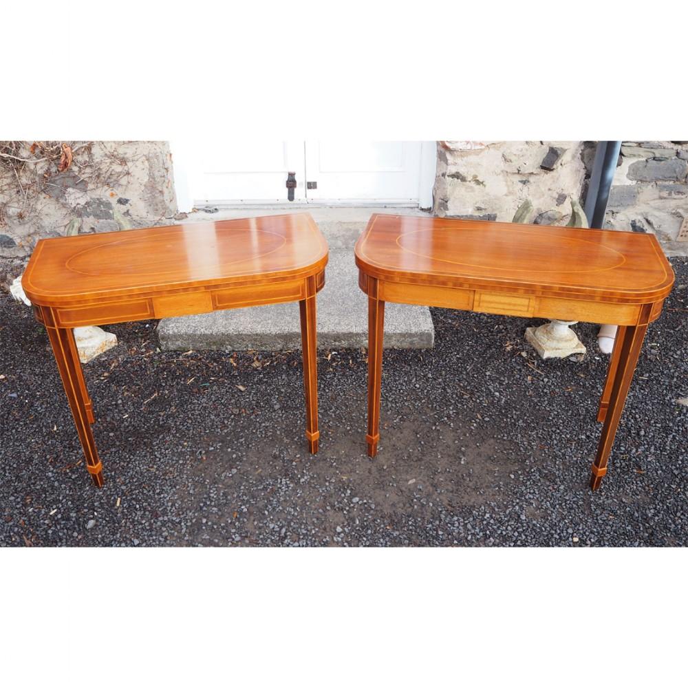 fine pair of georgian style tea tables