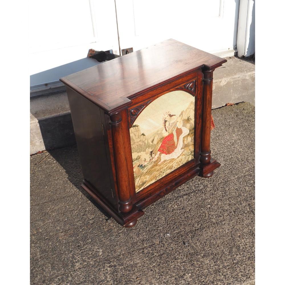 fine william iv rosewood collectors cabinet