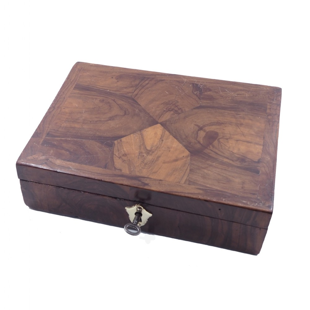 early 18th century walnut oyster box